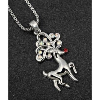 Sparkling Reindeer Necklace